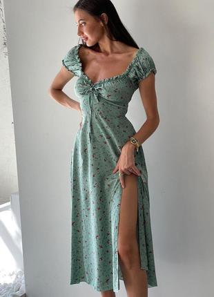 Распродажа платье prettylittlething миди milkmaid asos