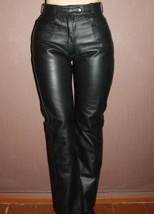 Кожаные брюки с высокой посадкой lewis leather №53
