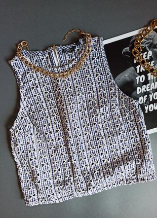 Топ блуза блузка майка текстурний печворк кружево кружевной