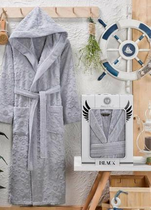 Мужской длинный махровый халат (оверсайз) 100% хлопок,  чоловічий махровий халат