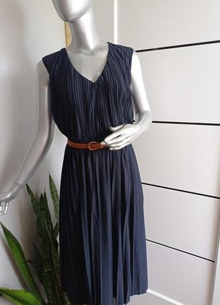 Платье плиссе от h&m