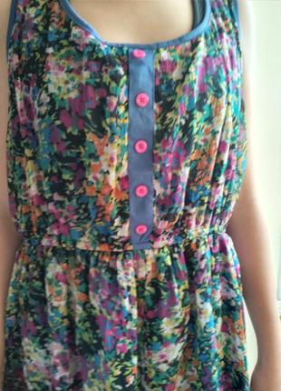 Платье-сарафан,спереди корче,сзади длиннее