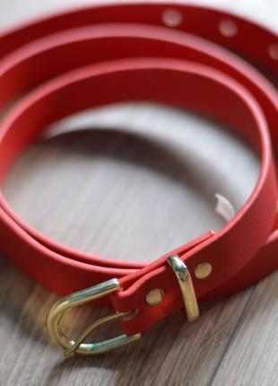 Ремень пояс красный  h&m пояс ремінь червоний