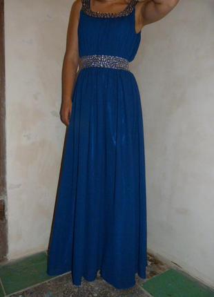 Платье синее вечернее next