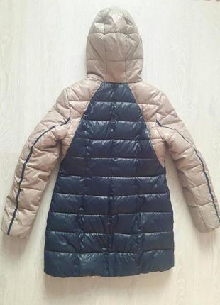 Теплый зимний пуховик куртка с капюшоном