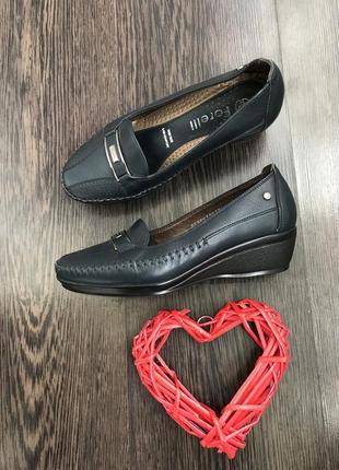 Женские кожаные туфли forelli натуральная кожа/стелька ортопед