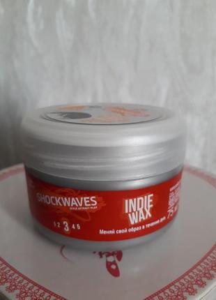 Воск для укладки волос wella shockwaves indie wax
