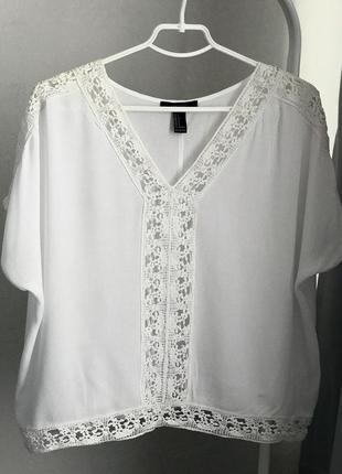 Блузка майка кофта футболка женская ажурная пляжная forever 21