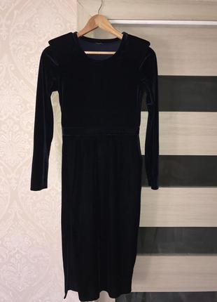 Роскошное бархатное платье