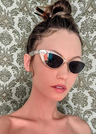 Солнцезащитные очки кошечки 🤍 cat кошачий глаз