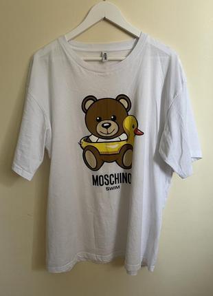 Moschino swim оверсайз футболка/платье