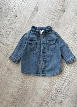 Сорочка джинсова рубашка h&m