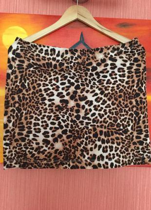🐯юбка с леопардовым принтом базовая🐯