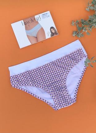 Трусы-слип хлопковые lovelygirl 3959 5(xl) белый с оранжевым