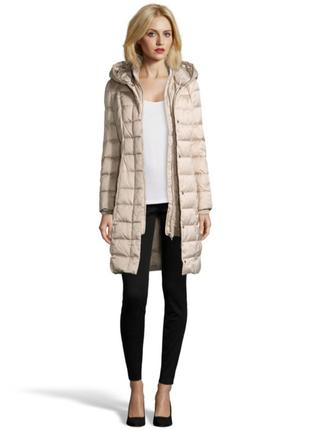 Шикарный, длинный пуховик/пуховое пальто необыкновенного цвета sisley (it38)