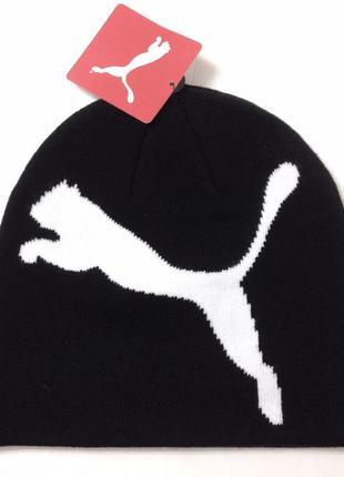 Вязаная теплая шапка фирмы puma