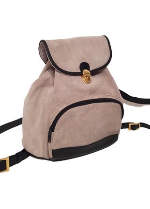 Роскошный комбинированный рюкзак picard кожа + принтованный замш