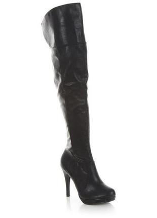 Новые на утеплителе сапоги ботфорты на каблуке new look с asos.com 37-37,5