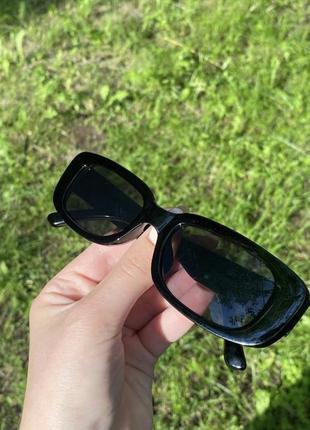 Очки окуляри сонцезахисні солнцезащитные квадратные прямоугольные черные чорні