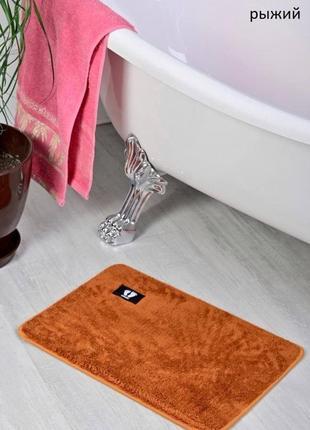 Коврик для ванной оренжевый рыжый