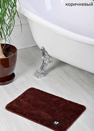 Коврик для ванной коричневый