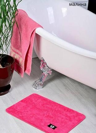 Коврик для ванной малиновый розовый