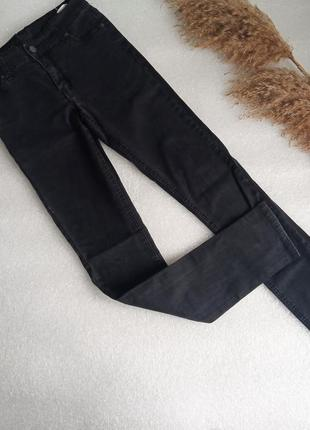✨базові ,чорні , стрейчеві джинси ✨