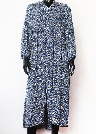 Очень красивое платье рубашка цветочный принт верх-резинка senes