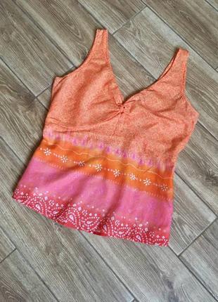 Хлопковый легкий топ блуза этно стиль