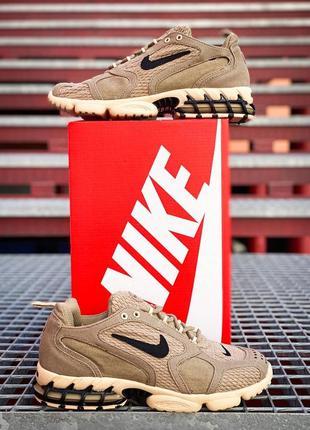 Nike stussy air zoom spiridon cage 2 sandy женские кроссовки песочные желтые найк