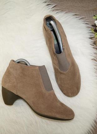 (38р./25см) camper! замша/кожа! безупречные базовые ботиночки на устойчивом каблуке