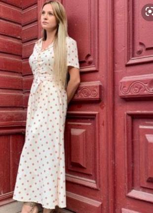 Zara платье в горох