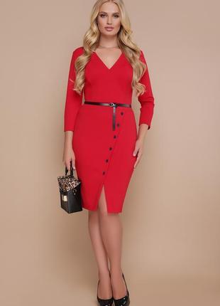 Батальное красное платье | 24109