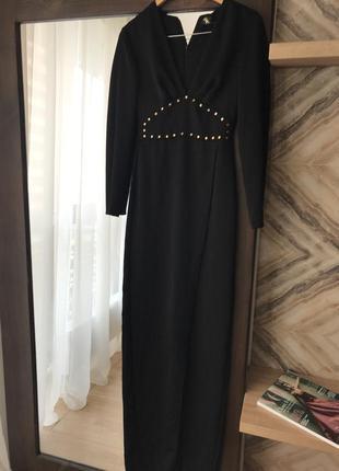 Adl turkey платье в пол нарядное чёрное стиль