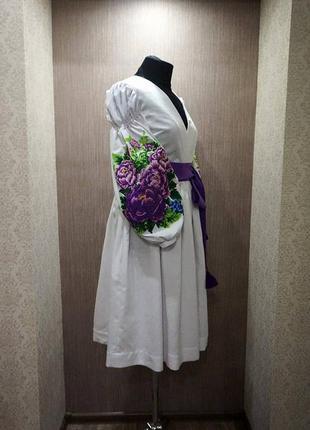 Ексклюзивне вишите плаття на домотканому полотні1  Ексклюзивне вишите плаття  на домотканому полотні2 ... b198db5c3dc3d
