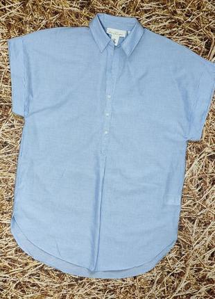 Новая хлопковая рубашка, блуза h&m, оверсайз
