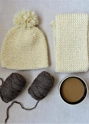 Набор шапка и шарфик снуд