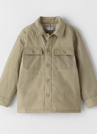 Куртка zara рубашечного кроя