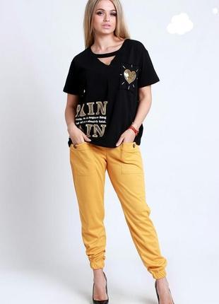 Цена 27.09. джогеры женские спортивные штаны брюки турцыя однотоного цвета желтый красный розовый хаки синий