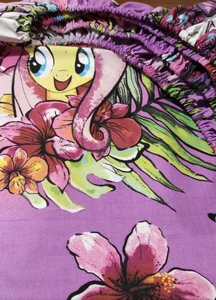 Простыни на резинке из плотной пакистанской бязи gold - my little pony, все размеры
