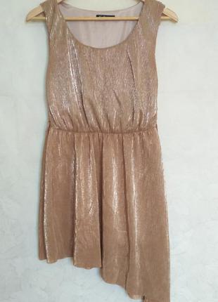 Платье kira plastinina золотистое