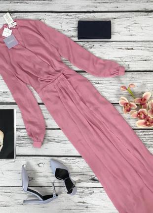 Шелковое платье-халат missguided с объемными рукавами  dr47124