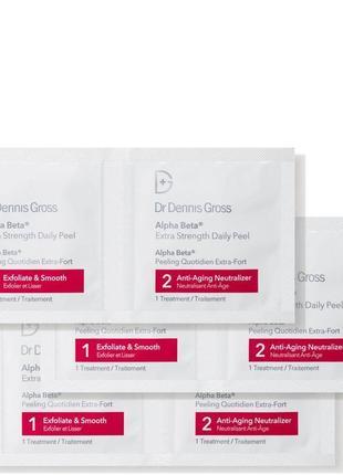 Салфетки для кислотного пилинга dr dennis gross alpha beta peel extra strength formula