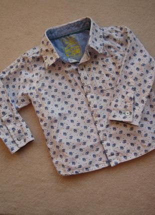 Рубашка marks&spencer 12-18 мес (83 см) состояние отличное