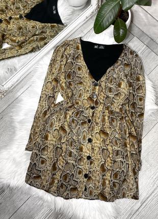 Мини платье zara в звериный принт
