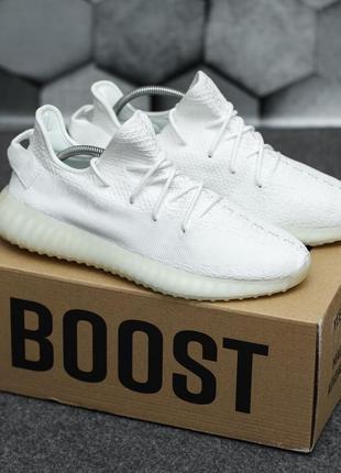 Текстильные кроссовки белые adidas yeezy boost 350 демисезонные адидас