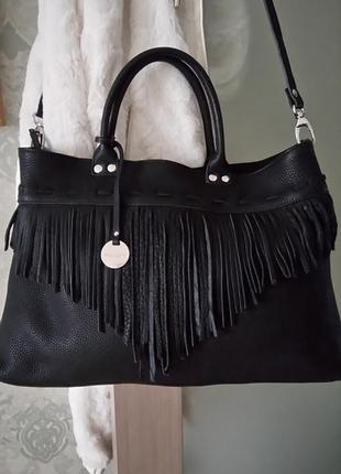 Vip!!!роскошная кожаная большая сумка pulicati