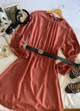 Платье zara ягодного цвета р.м