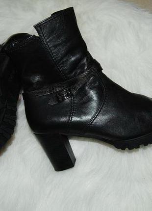 Ботинки gabor черные натуральная кожа 38.5-39 р осенние
