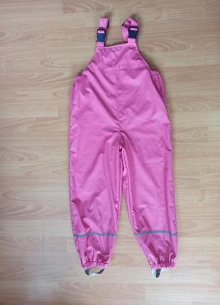 Грязепруф для дівчинки, штани дощовики, полукомбинезон дождевик